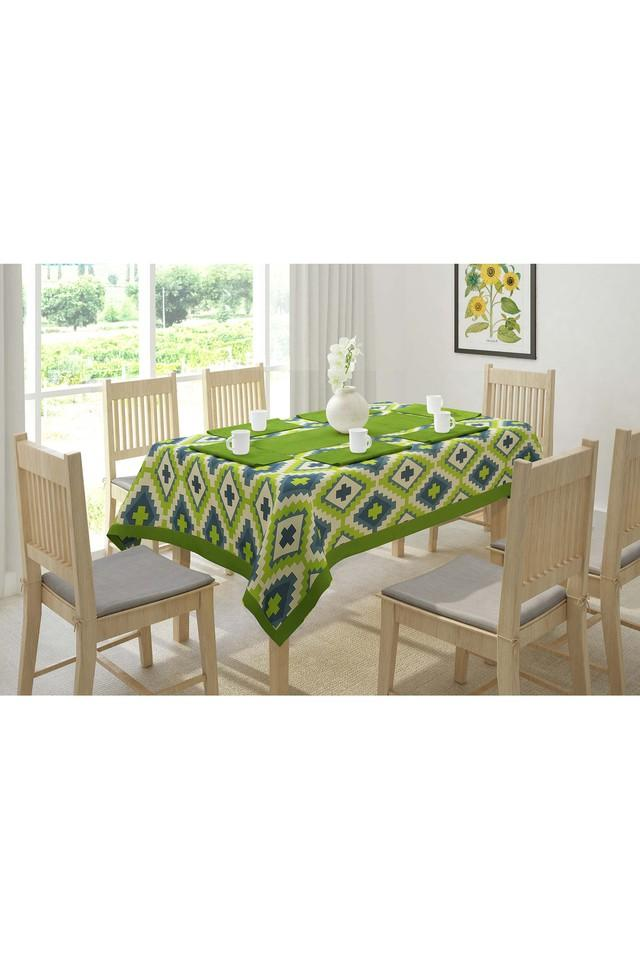 Geometric Printed Table Cover - 4 Seater