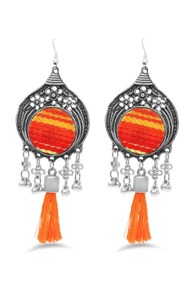 Womens Beads and Tassel Drop Earrings