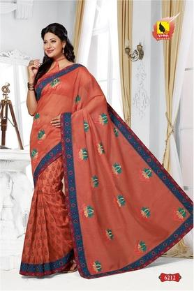ASHIKA Womens Embroidered Saree With Blouse Piece - 204577044_9407