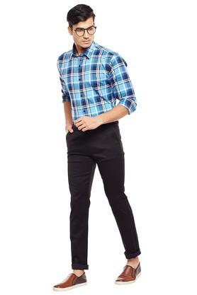 Mens 5 Pocket Slim Fit Self Pattern Chinos