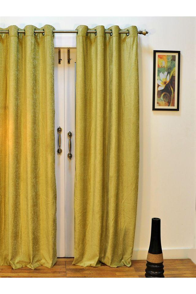 Polyester Monochrome Solid Door Curtain