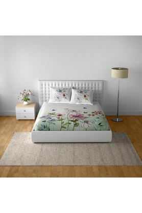 SPACESCotton Printed Double Bedsheet With 2 Pillow Covers - 203257439_9900