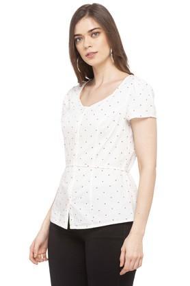 Womens Round Neck Printed Shirt