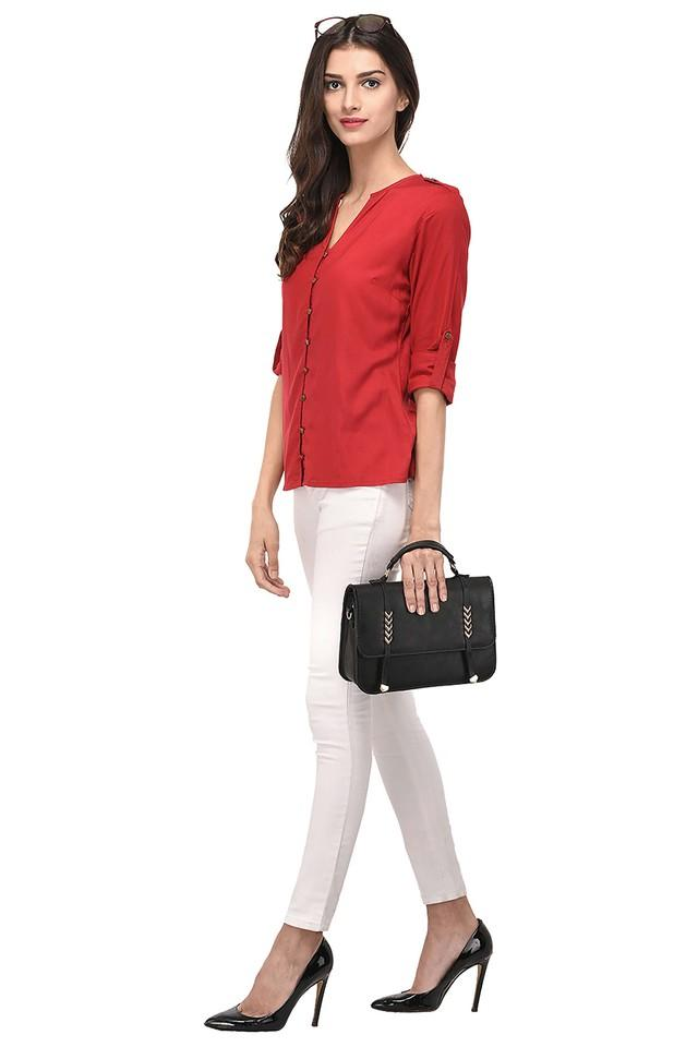 Womens Notched Solid Shirt
