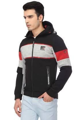 Mens Hooded Colour Block Jacket