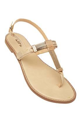 LIFE Womens Casual Wear Buckle Closure Flat Sandals