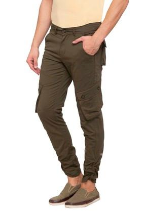 Mens 7 Pocket Solid Cargos