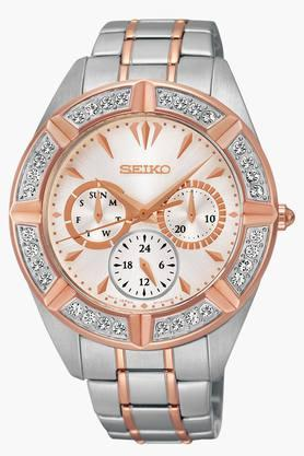 SEIKO Womens Lord Chronograph White Dial Watch - SKY678P1