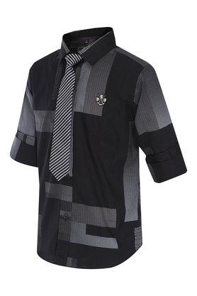 Boys Printed Casual Shirt with Tie