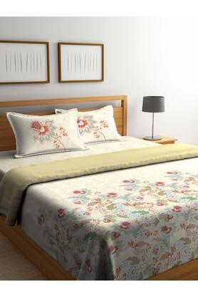 PORTICO Floral Printed Double Duvet Cover With Bed Sheet And Pillow Cover Combo - 203990006_9900