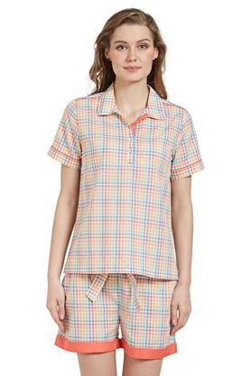 Womens Checked Top and Shorts