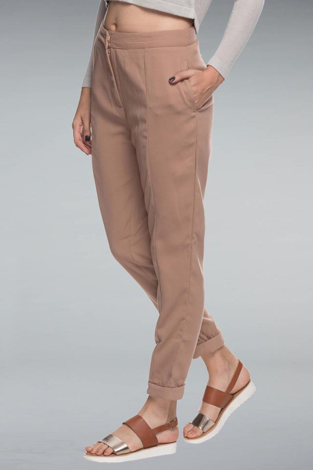 Women 2 Pocket Solid Pants