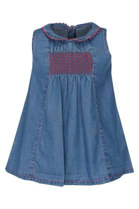 Girls Collared Assorted Flared Dress