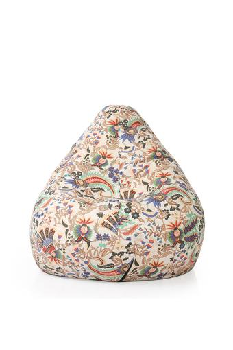 Classic Canvas Floral Printed Bean Bag XXL Size with Fillers