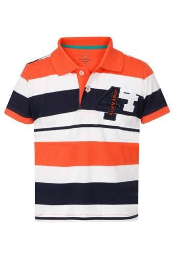 Boys Striped Polo Tee