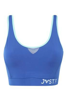 Womens Solid Non Padded Non Wired Sports Bra