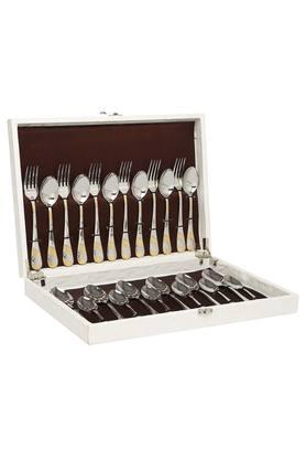 Imperio Embossed Fork and Spoon Set of 24