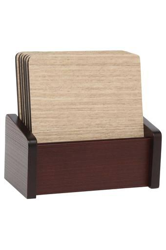 Prime Square Textured Coasters - Set of 6