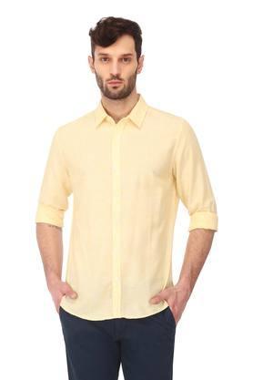 Mens Slim Fit Slub Casual Shirt