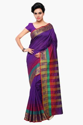 DEMARCA Womens Art SIlk Plain Saree