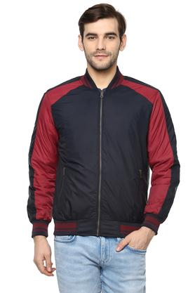 Mens Mao Collar Colour Block Jacket