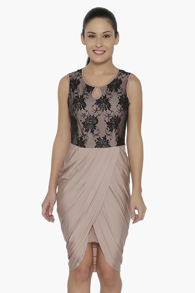 Womens Lace Knee Length Dress