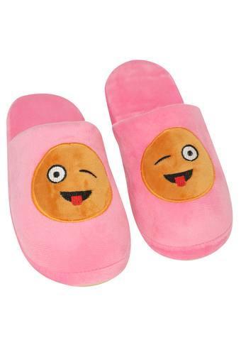 Slub Emoticon Slipon Bath Slippers