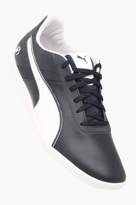 PUMA Mens Leather Lace Up Sneakers