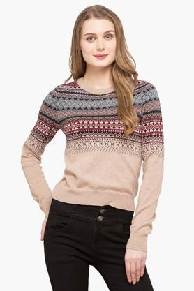 AEROPOSTALE Womens Round Neck Printed Sweater