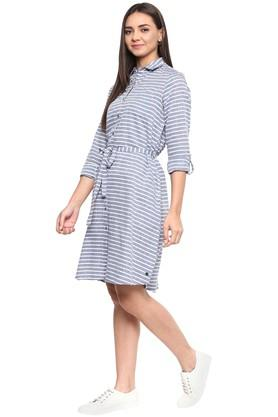 Womens Striped Shirt Dress