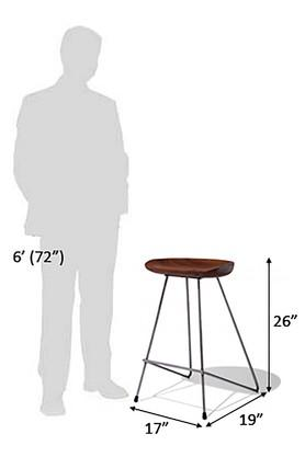 Brown Pedro Bar Stool