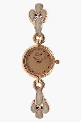TITANWomens Raga Rose Gold Dial Analog Watch - NJ2444WM05