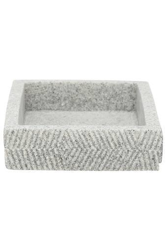 Alvina Slub Stone Finish Rectangular Soap Dish