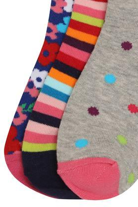 Girls Printed and Stripe Socks Pack of 3