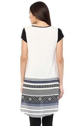 Womens V-Neck Printed Tunic