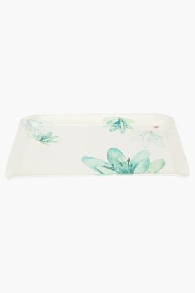 Rectangular Floral Print Tray