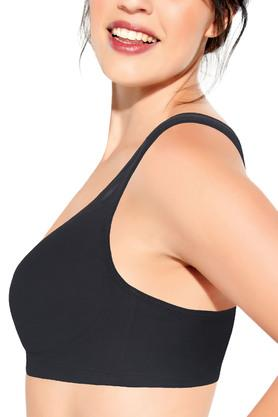 Full Support Cotton Bra - X-Frame High Coverage Non-Padded Wirefree