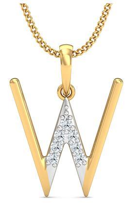 P.N.GADGIL JEWELLERSWomens The 'W' Diamond Pendant DJPD-67