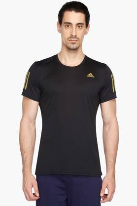 ADIDAS Mens Round Neck Solid T-Shirt
