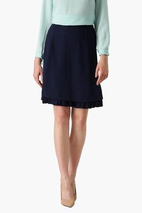 MARIE CLAIRE Womens Solid Knee Length Skirt
