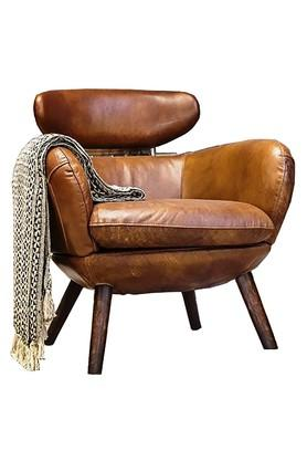 Brown Modern Accent Chair with wooen legs