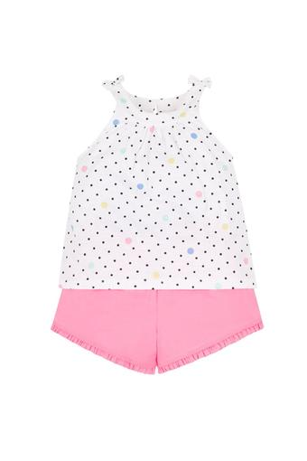 89da93ea6 Buy MOTHERCARE Girls Round Neck Printed Vest and Solid Shorts ...