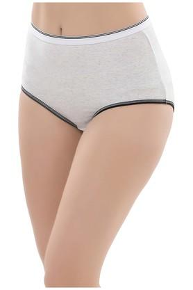 Womens High Waist Slub Hipster Briefs