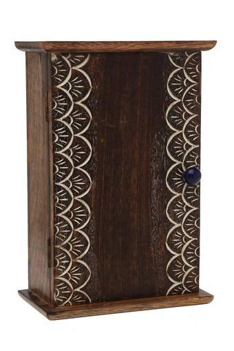 Kashtha Burnt Wood Trinket Key Box