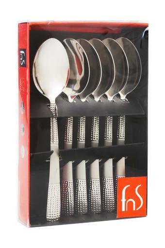 Textured Zest Dessert Spoon Set of 6