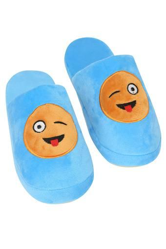 Solid Emoticon Slipon Bath Slippers