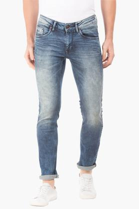 FLYING MACHINEMens Skinny Fit Stone Wash Jeans (Jackson Fit)