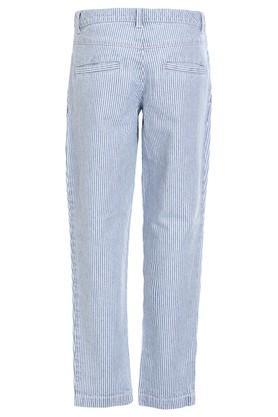 Girls 4 Pocket Striped Pants