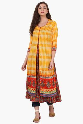 RANGRITI Womens Straight Poly Cotton Kurta - 203246716