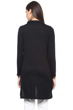 Womens High Neck Printed Tunic